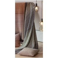 IVY/BLUE/BROWN GRADIENT HERRINGBONE SAVONA THROW