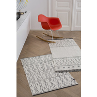 OFF WHITE BERBER SEAM GOLIATH RUG/CARPET 75 X 120 CM
