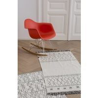 OFF WHITE BERBER RUNNER WITH FRINGES RUG/CARPET 75 X 150 CM