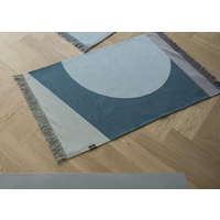 LIGHT GREEN ART DECO GEO RUG WITH FRINGES 70 X 120 CM