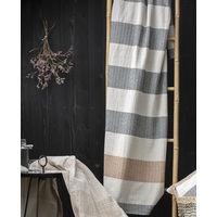 CHARCOAL FINE LINES LINO THROW