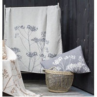 CHARCOAL FLORALS ALBA THROW