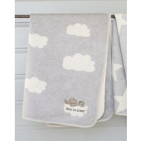 GREY BORN TO SLEEP PANDA BASSINET BLANKET