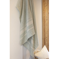 LIGHT GREEN STRUCTURE RIVA BLANKET 210 X 220 cm