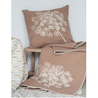 BROWN SINGLE UMBEL ORGANIC COTTON THROW