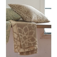 BEIGE STRUCTURED ORNAMENT DIVA THROW