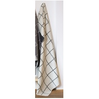 OFF WHITE CHECKERED LINES SILVRETTA THROW
