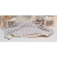 GREY STARS ALL OVER FINN COT