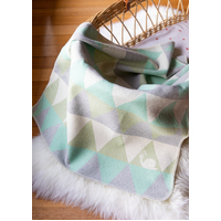 LIGHT GREEN SNAIL TRIANGLES JUWEL BASSINET BLANKET