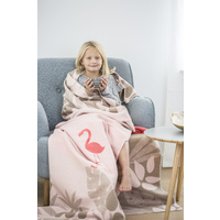 PINK FLAMINGO SINGLE JUWEL BLANKET
