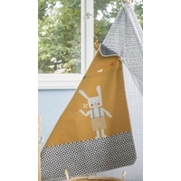 GOLD BUNNY RABBIT JUWEL BASSINET BLANKET