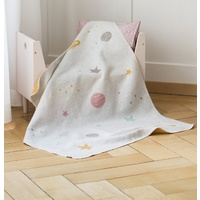 LIGHT GREY PLANETS JUWEL BASSINET BLANKET
