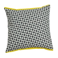 BLACK/CREAM NOVA MOROCCO CUSHION 50X50CM