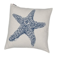 ROYAL BLUE STARFISH CUSHION 50 X 50 CM