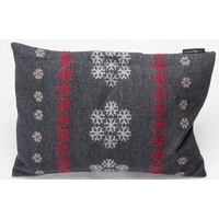 CHARCOAL ALPINE SNOWFLAKES 40 X 60cm CUSHION