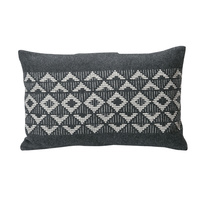 CHARCOAL AFRICAN STYLE CUSHION 40 X 60CM