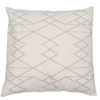 OFF WHITE KILIM PATTERN ORGANIC CUSHION 50 X 50 CMS