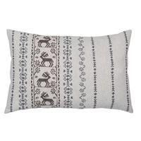 LIGHT GREY STAG FOLKLORIST CUSHION 40 X 60 CMS