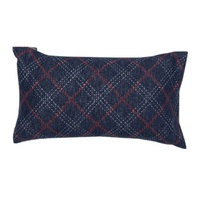 NAVY ARGYLE CUSHION 30 X 50 cm