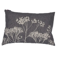 CHARCOAL FLORALS ALBA CUSHION 40 X 60 cm