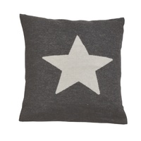 CHARCOAL STAR SILVRETTA CUSHION 40X40