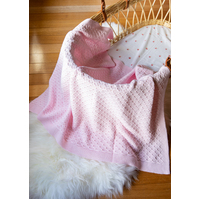 PINK LACE KNITTED BLANKET