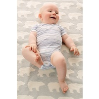 NAVY SCRIBBLE SHORT SLV B/S 3-6 MONTHS
