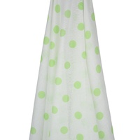 WHITE MUSLIN WITH GREEN SPOTS