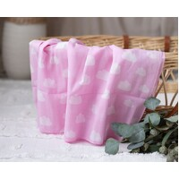 PINK CLOUDS MUSLIN WRAP