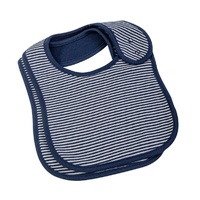 NAVY FINE STRIPE 2 PC BIB SET
