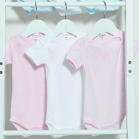 PINK 3PC BODY SUIT 3-6M