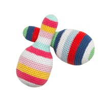 BLUE MULTI STRIPE CROCH MARACA