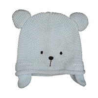 BLUE TEDDY KNITTED HAT