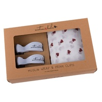 RED HEART MUSLIN WITH WHITE CLIPS PACK