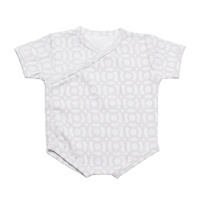 GREY CIRCLES SHORT SLEEVE BODY SUIT 3-6 months