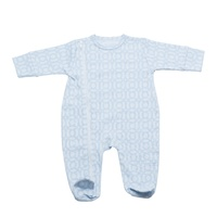 BLUE CIRCLES FOOTED OUTFIT 3-6 MONTHS