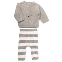 GREY BUNNY KNITTED OUTFIT