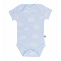 BLUE CLOUDS SHORT SLEEVE BODY SUIT