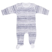 Navy Scribble Zipped Outfit with Feet