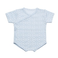 Blue Circles Short Sleeve Body Suit