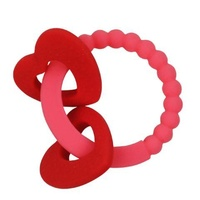 RED HEART TEETHING RING