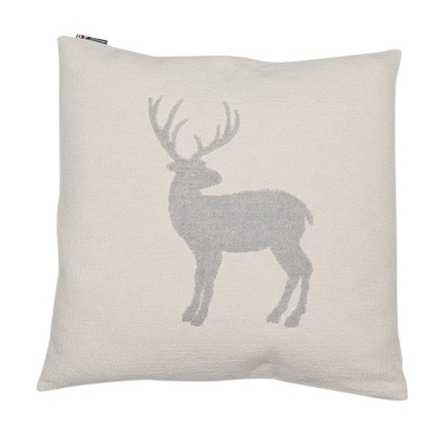 OFF WHITE STAG DECO CUSHION 50 X 50 CMS
