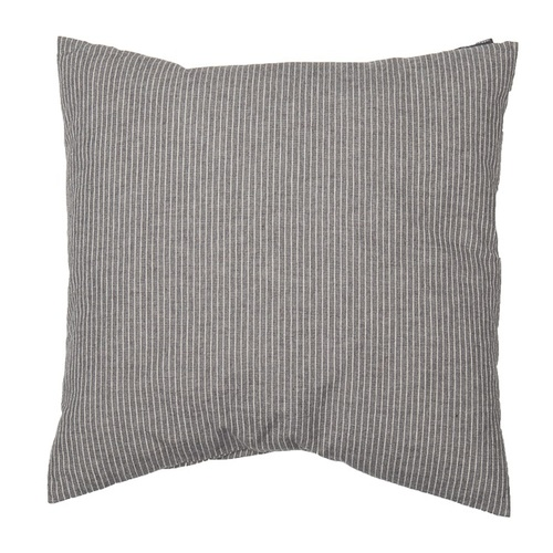 GREY PINSTRIPE PAIR NIZZA CUSHION 40 X 40 CM