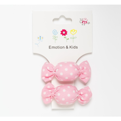 PALE PINK & WHITE DOTS LOLLIES - CLIPS