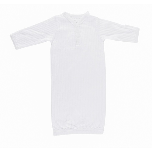 WHITE SELF STRIPE SLEEP SACK
