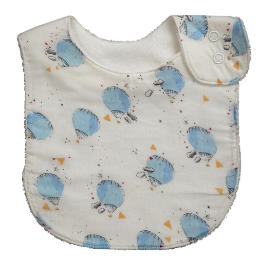 BLUE HOT AIR BALLON BIB